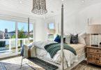 örgü battaniyeler ile sıcak yatak odaları