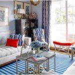 oturma odası için mavi kombinleri