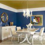 stil sahibi mavi yemek odası dekorasyonu