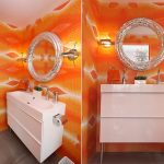 turuncu banyo dekorasyonu (3)