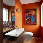 turuncu banyo dekorasyonu (7)