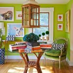 2017 pantone Greenery ev dekorasyonu