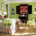 2017 pantone rengi Greenery ile dekorasyon