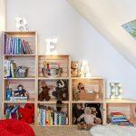 ahşap kasalar ile çocuk odası dekorasyonu