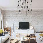 beyaz eskitme tuğla duvar dekorasyonu