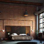 endüstriyel tarzı yatak odası dekorasyonu