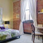 eskitme tuğla duvar yatak odası dekorasyonu