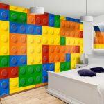 lego duvar kaplamalı renkli çocuk odası