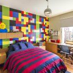 lego temalı rengarenk çocuk odası dekorasyonu