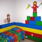 minikler için lego dekorlu çocuk odası dekorasyonu
