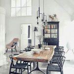 modern metal sandalye dekorasyonu