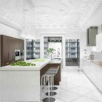 mutfakta beyaz zarifliği