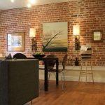 oturma odası tuğla duvar dekorasyonu