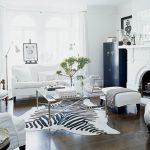 siyah ve beyaz ile modern oturma odası