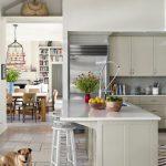 Beyaz ada mutfak tezgahı