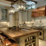modern rustik tarzı mutfaklar