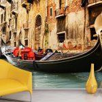 venedik temalı dekoratif duvar posteri