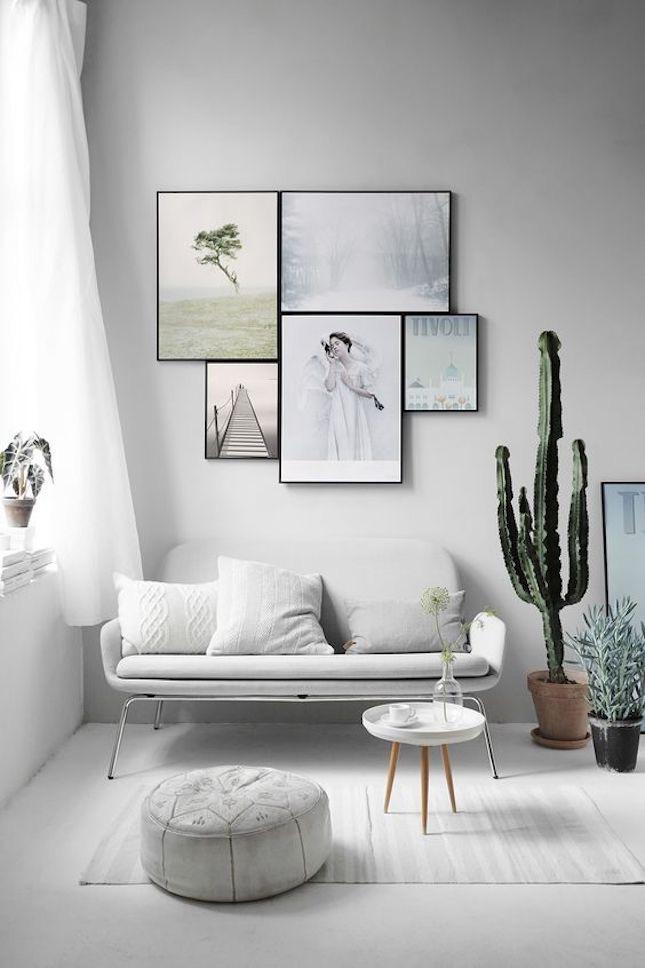 Beyaz Minimalist Salon