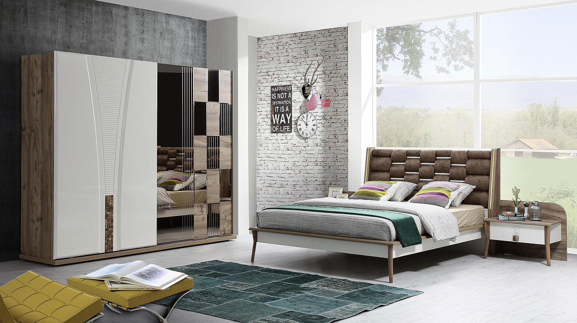 Beyaz klasik yatak odaları 2019