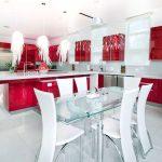 kırmızı mutfak dekorasyon örnekle