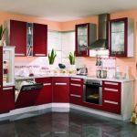kırmızı mutfak dekorasyonu,