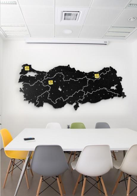 Oxidepo Türkiye Haritalı Metal Tablo