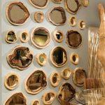 Ağaç kütüğünden yapılmış çeşitli ayna çerçeveleri