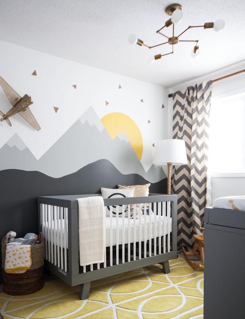 Bebek odası için duvar dekorasyonu