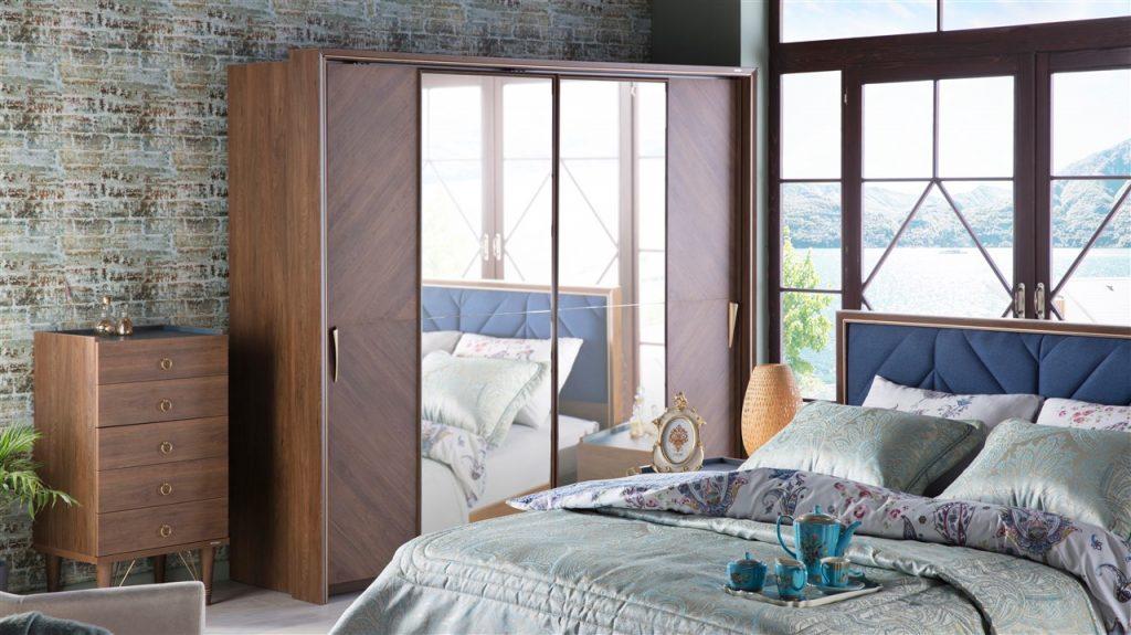 İstikbal Sürgülü Gardrop Modeli-Palma Yatak Odasi Takimi