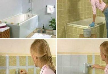 banyo fayans boyama