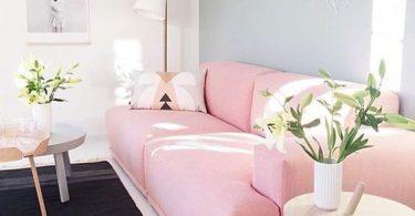 Pudra rengi oturma odası