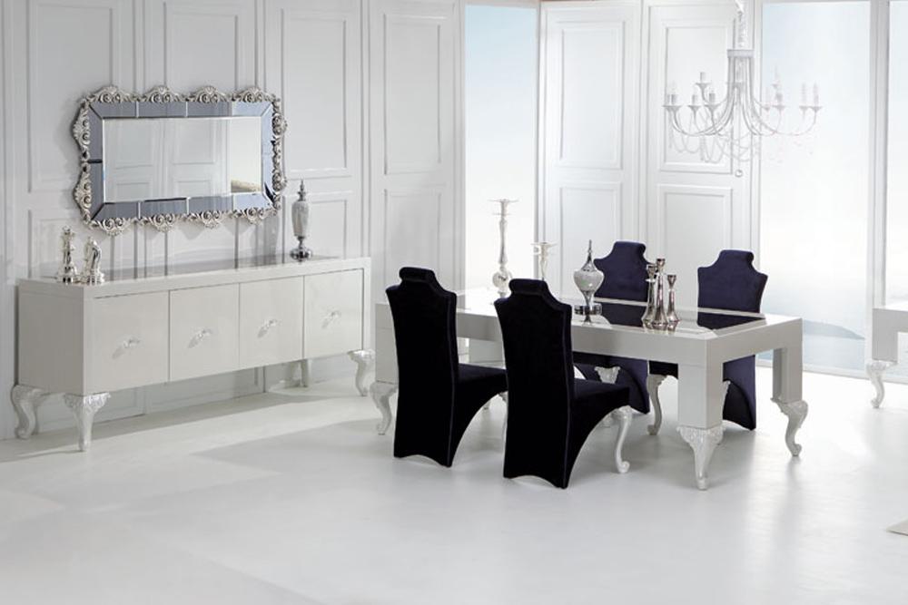 zebrano mobilya lüks yemek odaları