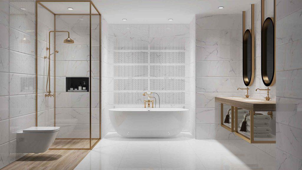 2018 banyo fayans modelleri ve renkleri dekorblog. Black Bedroom Furniture Sets. Home Design Ideas