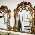 fransız stili altın varaklı aynalar ile dekorasyonda farklı bir etki yaratabilirsiniz