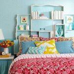 16 Dekoratif Yatak Başı Kitaplık fikirleri 2016