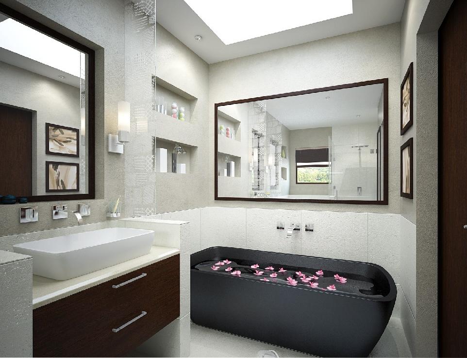 stil sahibi siyah banyo küvetleri