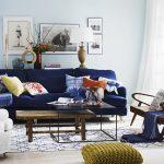 indigo mavisi ev dekorasyonu fikirleri 2016