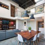 loft tarzı modern mutfak dekorasyonu