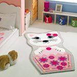 pembe rengi kız çocuk odası halı modeli 2016