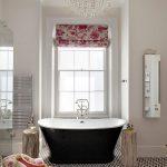 siyah beyaz etkileyici banyo dekorasyonu 2016