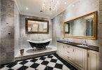 siyah beyaz lüx banyo dekorasyonu 2016