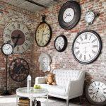 vintage tarzı duvar saatleri ile çok özel mekanlar