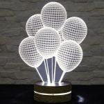 3 boyutlu balon led masa lambası 2016
