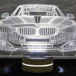 3d led masa lambası araba 2016