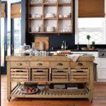 ahşap adalı vintage mutfak dekorasyonu 2016