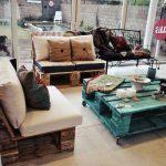 ahşap paletler ile dekoratif mobilyalar