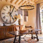 ahşap tasarım eskitilmiş büyük duvar saati
