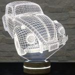 araba şeklinde 3 boyutlu led masa lambaları