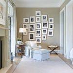 beyaz çerçeveler ile duvar galeri dekorasyonu