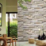 beyaz taş desenli ithal duvar kağıtları 2016